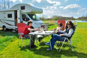 A family with their RV